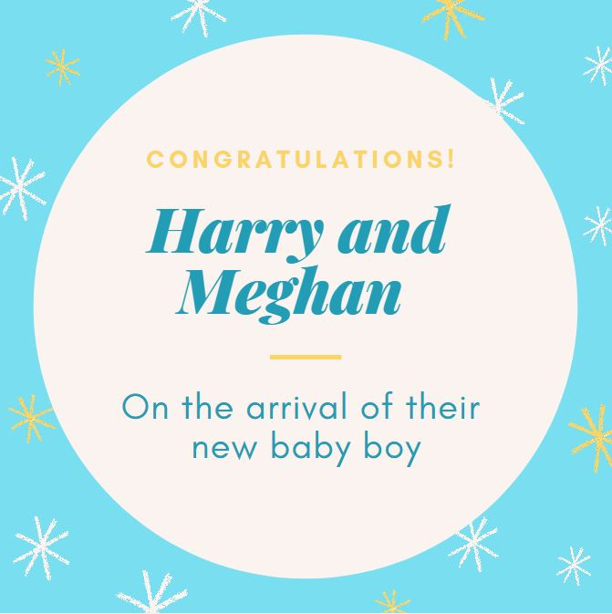 Meghan and Harry baby boy