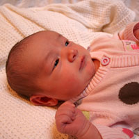 Layla - born following her parents taking a hypnotherapy for birth course