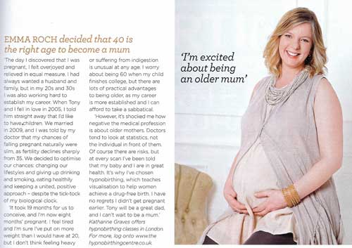 Hypnobirthing for older mums